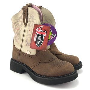"""Justin Womens Gypsy Collection 8"""" Soft Toe Boots"""